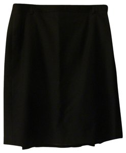 J.Crew Pleated Classic Silk Skirt Black
