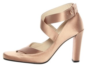 Gucci Satin Champagne Strappy Pumps