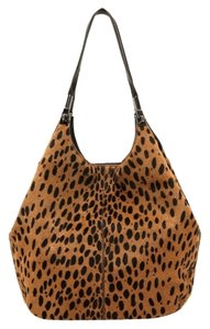 Elizabeth and James Tote in Cognac/Black (animal print)