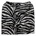 Casual Corner Annex Zebra Red Satin Mini Skirt Animal Print Image 0