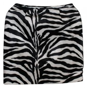 Casual Corner Annex Zebra Red Satin Mini Skirt Animal Print