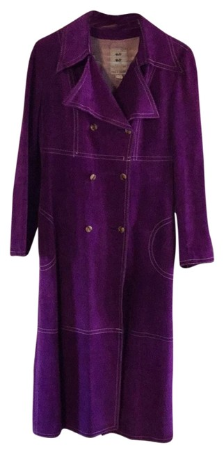 Preload https://img-static.tradesy.com/item/9903454/purple-suede-with-white-stitching-style-8449-trench-coat-size-8-m-0-1-650-650.jpg