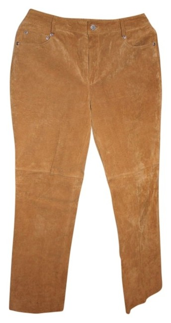 Preload https://item1.tradesy.com/images/newport-news-tan-suede-light-colored-jeans-with-lining-well-made-worn-only-once-like-new-size-8-m-29-99035-0-0.jpg?width=400&height=650