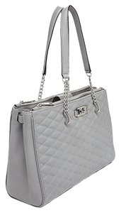 Rebecca Minkoff Quilted Leather New York Love Tote in Charcoal