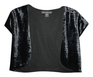 Express Empire Waist Velvet Evening Top Black