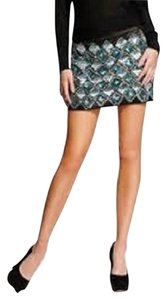 Guess By Marciano Mini Skirt Black, Blue, Silver