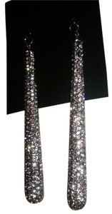 INC International Concepts NEW Crystal sparkle Silver Pave long earrings by INC.