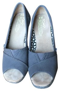 TOMS Grey Wedges