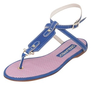 Dsquared2 Sandals High-end Italian Blue Flats