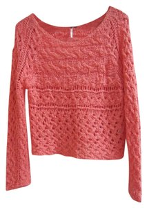 Free People Ribbon Knit Cable Detail Summer Cropped Sweater