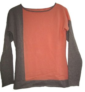 Cullen Cashmere Color Block Coral/Taupe Sweater