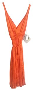 Norma Kamali short dress Orange on Tradesy
