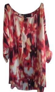 Kenneth Cole Multi Colored Pink Open Keyhole Tunic