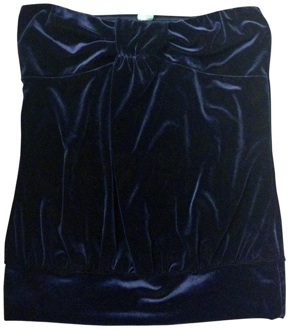 Aqua Top Navy Blue Velour