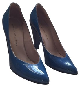 Marc by Marc Jacobs Patent Leather Heel Blue Pumps