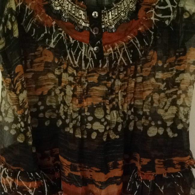 Solitaire Top Orange, Black, And Silver Print