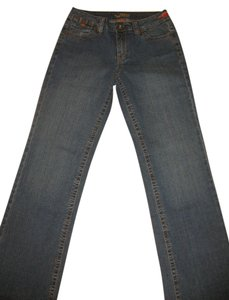 Worn Jeans Boot Cut Jeans-Dark Rinse