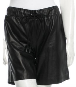 Derek Lam 10 Crosby Leather Dress Shorts Black