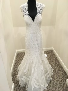 Allure Bridals Ivory Lace 8923 Vintage Wedding Dress Size 16 (XL, Plus 0x)