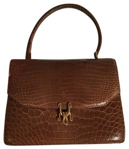 Gucci Designer Vintage Satchel in Light Brown