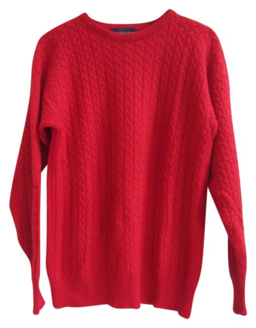 Preload https://img-static.tradesy.com/item/9908134/nordstrom-red-cashmere-cable-knit-medlarge-very-high-quality-yarn-sweaterpullover-size-12-l-0-1-650-650.jpg