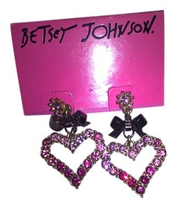 Betsey Johnson Betsey Johnson pink ombre heart earrings