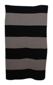 BCBGMAXAZRIA Skirt brown and black stripes