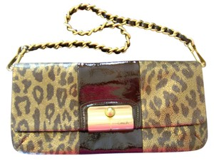 Coach Animal Print Brown Clutch