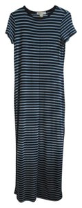 Navy/Robins Egg Maxi Dress by Michael Kors Striped Maxi Jersey