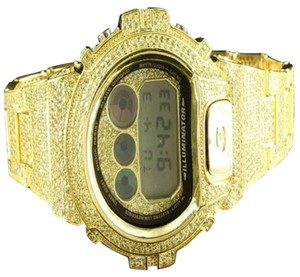 G-Shock 14k Gold Bezel G-shock Watch Genuine For Mens Classy Lab Diamond Fancy
