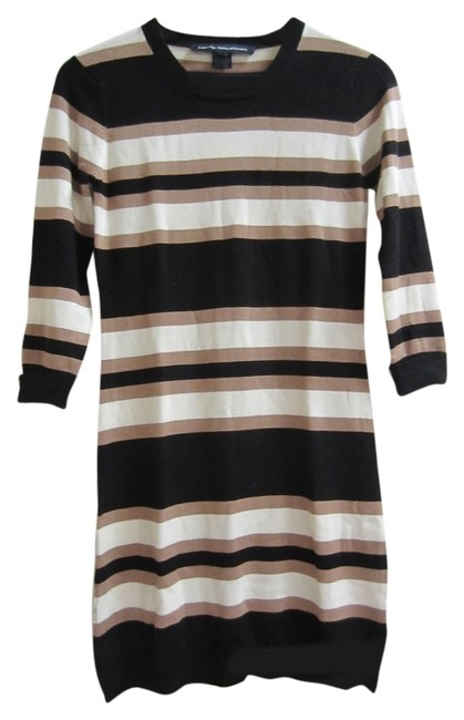 Preload https://img-static.tradesy.com/item/9910783/french-connection-blacktanecru-striped-knit-mid-length-short-casual-dress-size-6-s-0-1-650-650.jpg