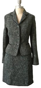 Elie Tahari Elie Tahari Virgin Wool Tweed Skirt Suit