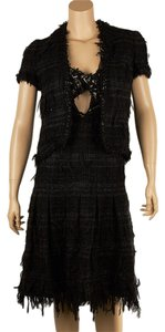 Chanel Chanel Runway Black Silk Dress Suit, Size 38 (64371)