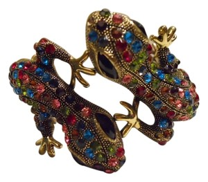 Other Multi color rhinestone hinged gecko lizard bracelet