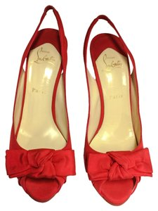 Christian Louboutin Bow Bow 40 Size 40 Size 10 Red Pumps