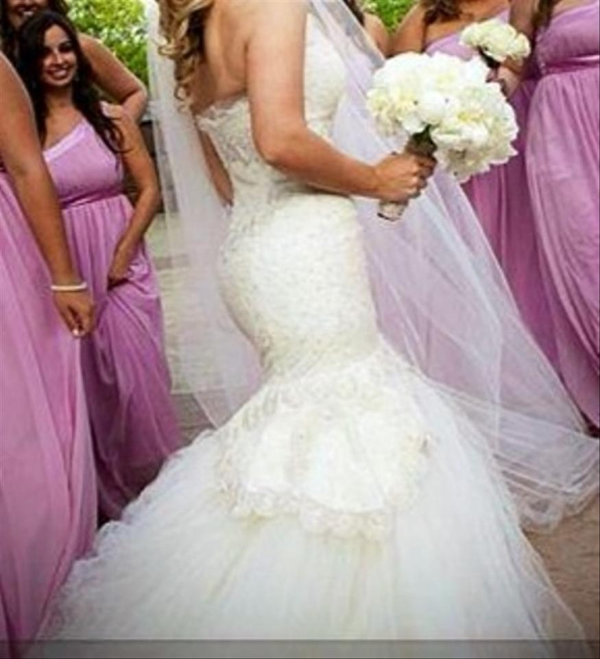 Rivini Lace Tiered Wedding Gown: Rivini Rivini Sweetheart Mermaid Gown In Alencon Lace