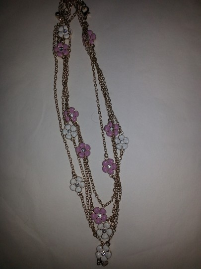 Other Vintage Pink and White Flower Necklace