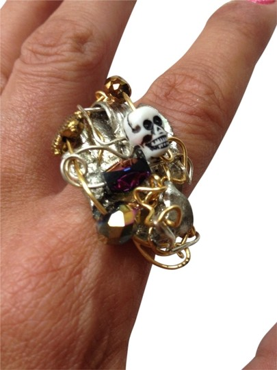 Other New Handmade Skull & Heart Twisted Metal Ring