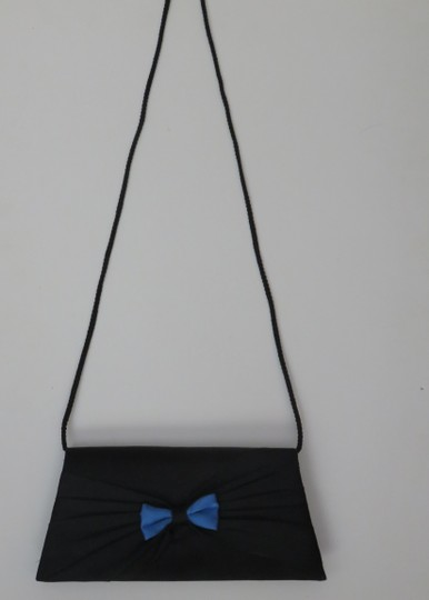 Other Satin Purse Evening Black, Blue Clutch