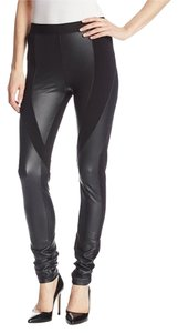 BCBGMAXAZRIA Black Faux Leather Leggings