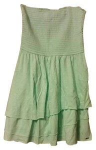 Hollister short dress Mint Green Strapless on Tradesy