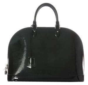 Louis Vuitton Black Epi Alma Gm Lv.h1002.07 Satchel
