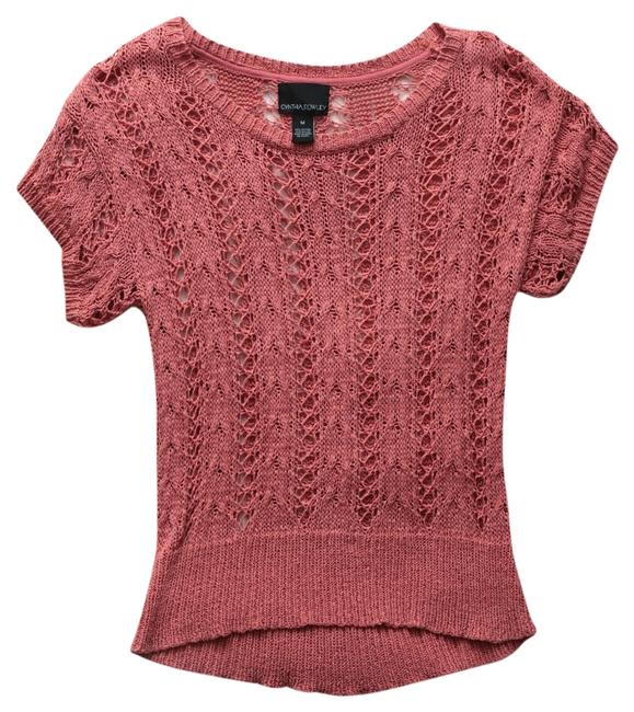 Cynthia Rowley Salmon Crochet Sweater