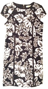 Michael Kors Floral Black Fun White Dress