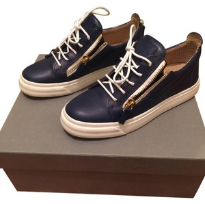 Giuseppe Zanotti Navy blue and gold Formal