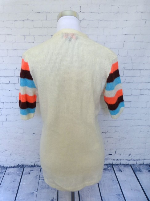 Tracy Feith Short Sleeve Striped Sleeve Sweater