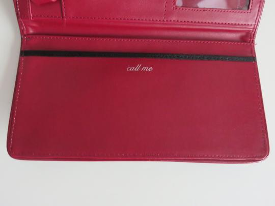 White House | Black Market Faux Suede Faux Patent Leather Shoulder Whbm Red Clutch
