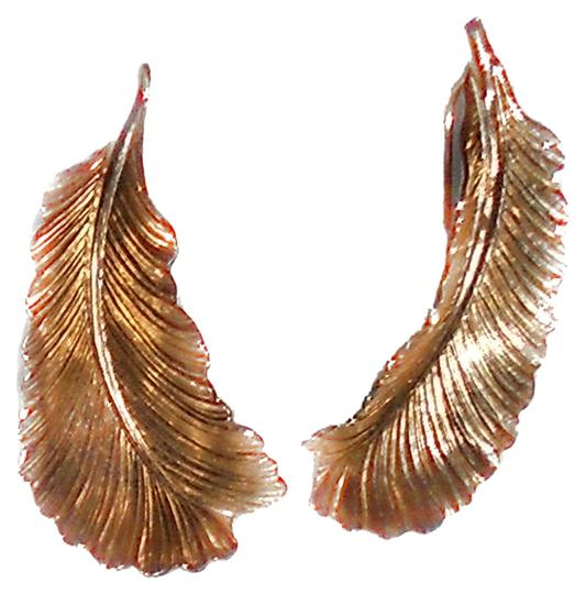 Other Gold Tone Leaf Hook Earrings