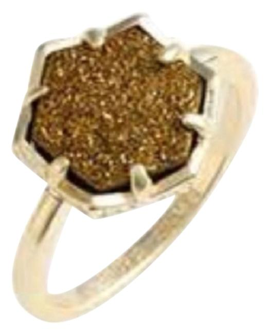 Item - Gold and Bronze Drusy Ring