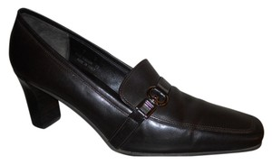 Coach Leather dark brown Pumps